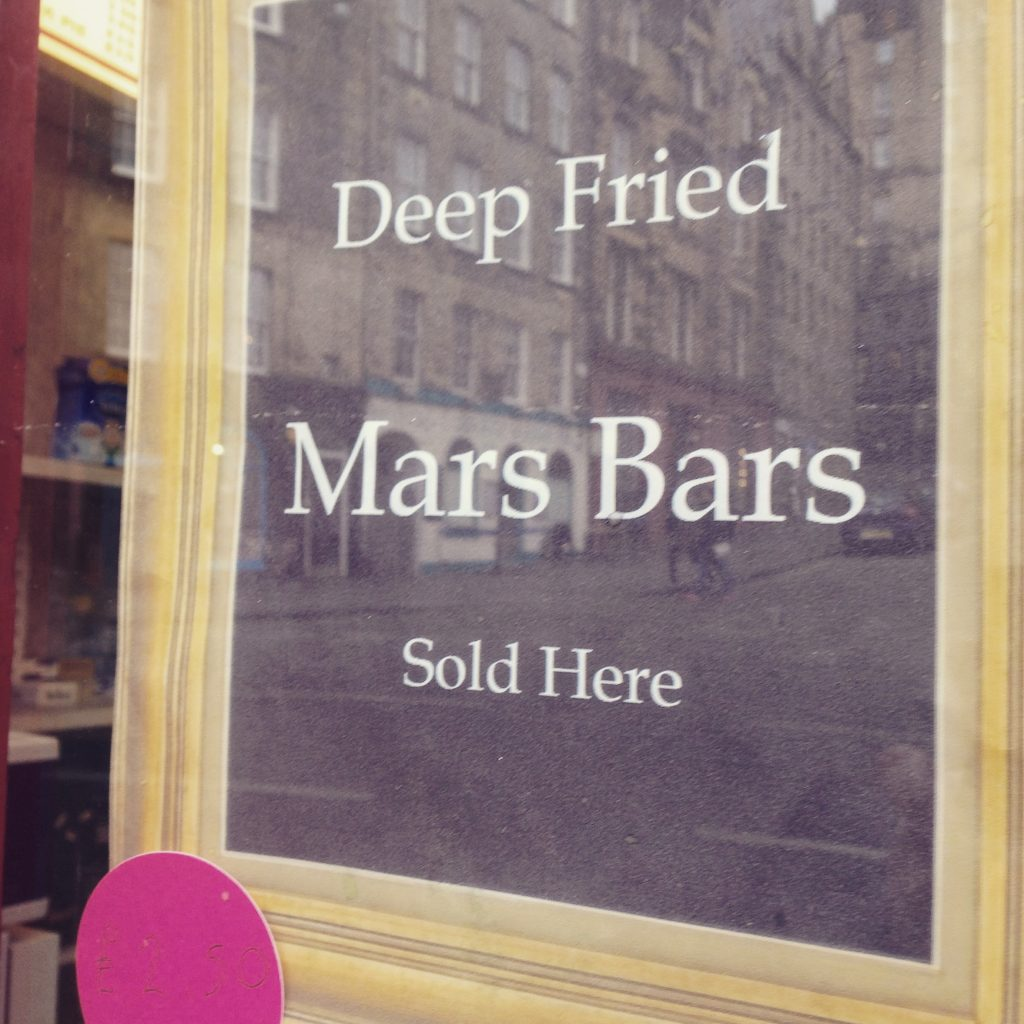 foodie explorers Scottish food deep fried mars bars